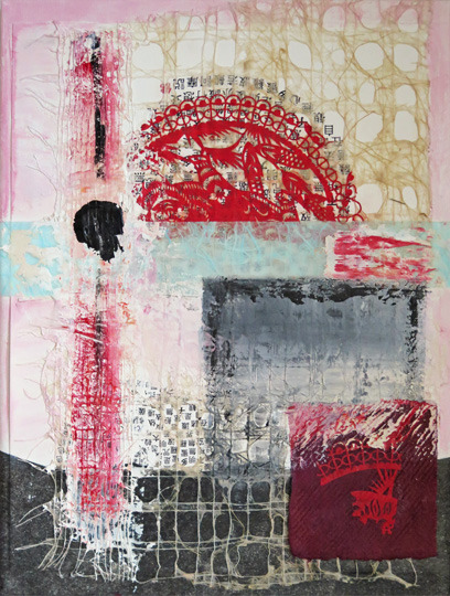 2015 Mixed Media and Collage Heart Sutra ll