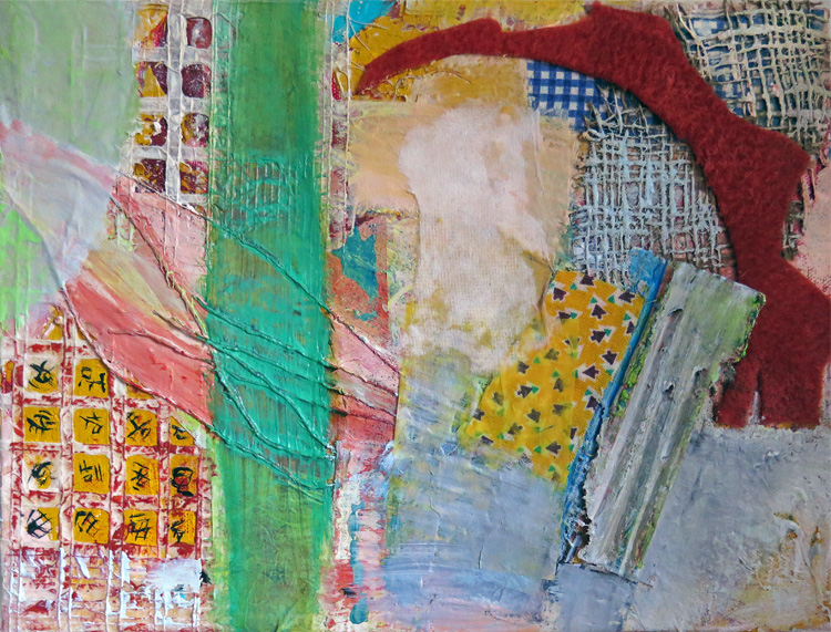 2015 Mixed Media and Collage Green Stripe
