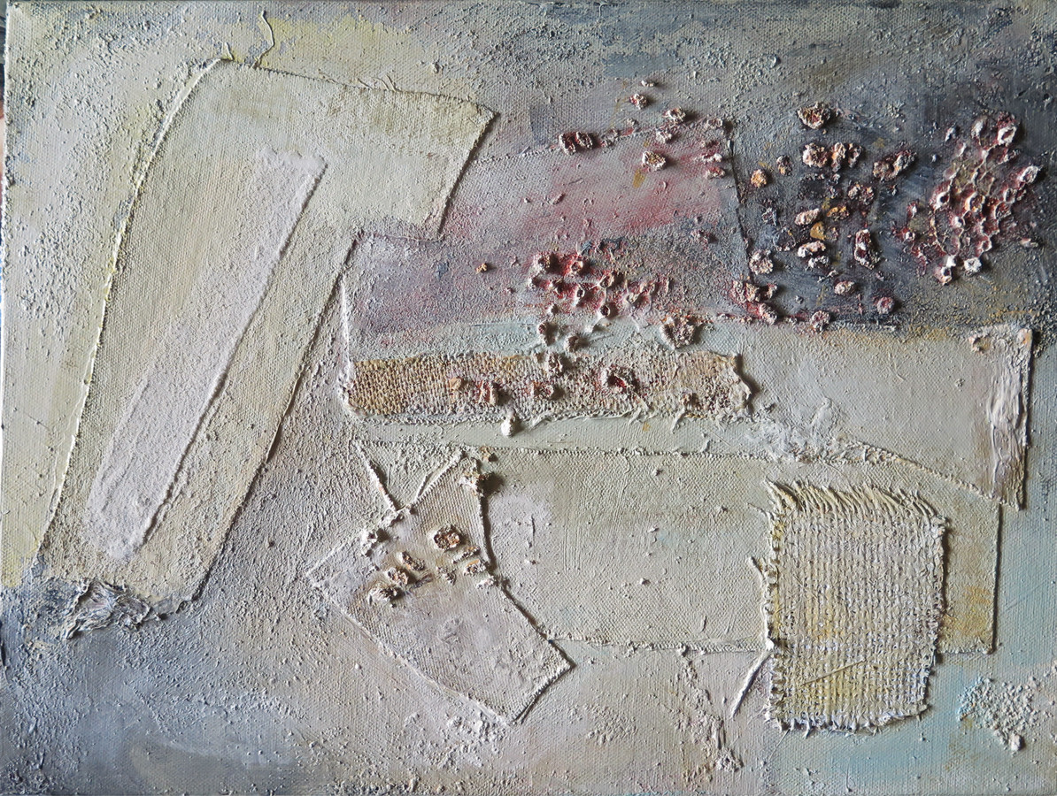 2016 Mixed Media and Collage  2016 Mixed Media and Collage acrylic, pumice gel, sand and modeling paste on canvas and burlap