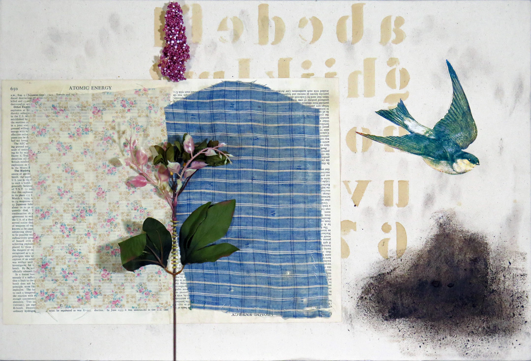2016 Mixed Media and Collage Atomic Alphabet with Bird