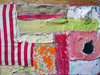 2015 Mixed Media and Collage Vintage fabric, burlap, cheesecloth, sand, acrylic on canvas