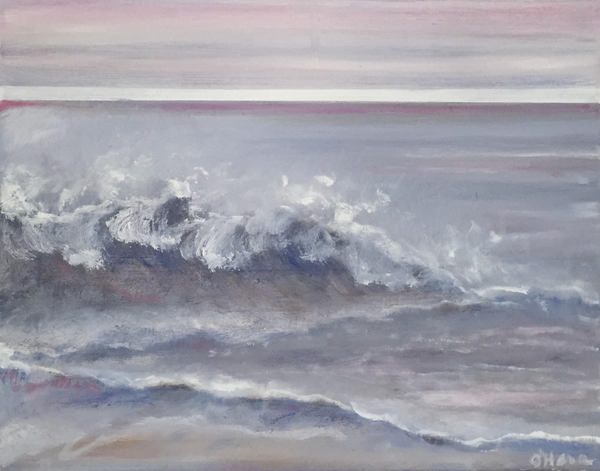 JoAnn O'Hara Contemporary Seascapes Oil and Epoxy Resin