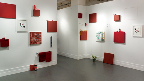 "JOAN SNITZER ""The Red Studio"" - A.I.R. Gallery, 2013"