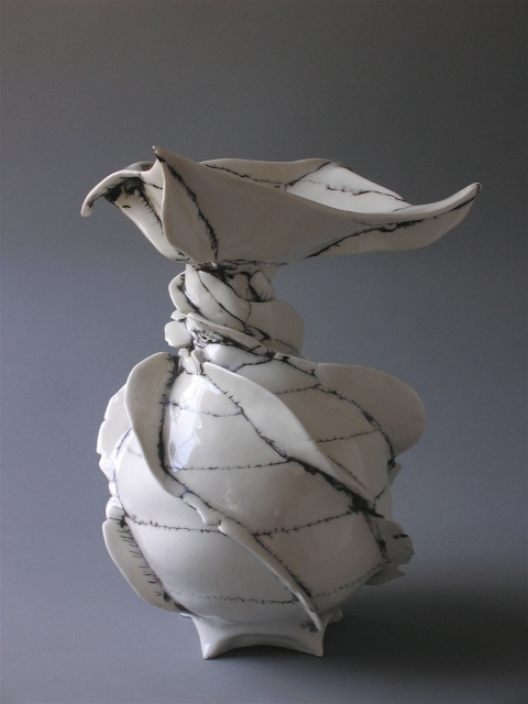 Jocelyn Braxton Armstrong Ceramics Flaps and Abstraction porcelain, black slip