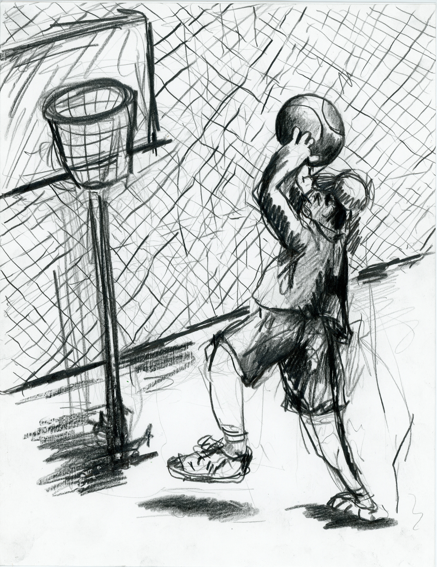 Drawings and Sketches  B-Ball for One