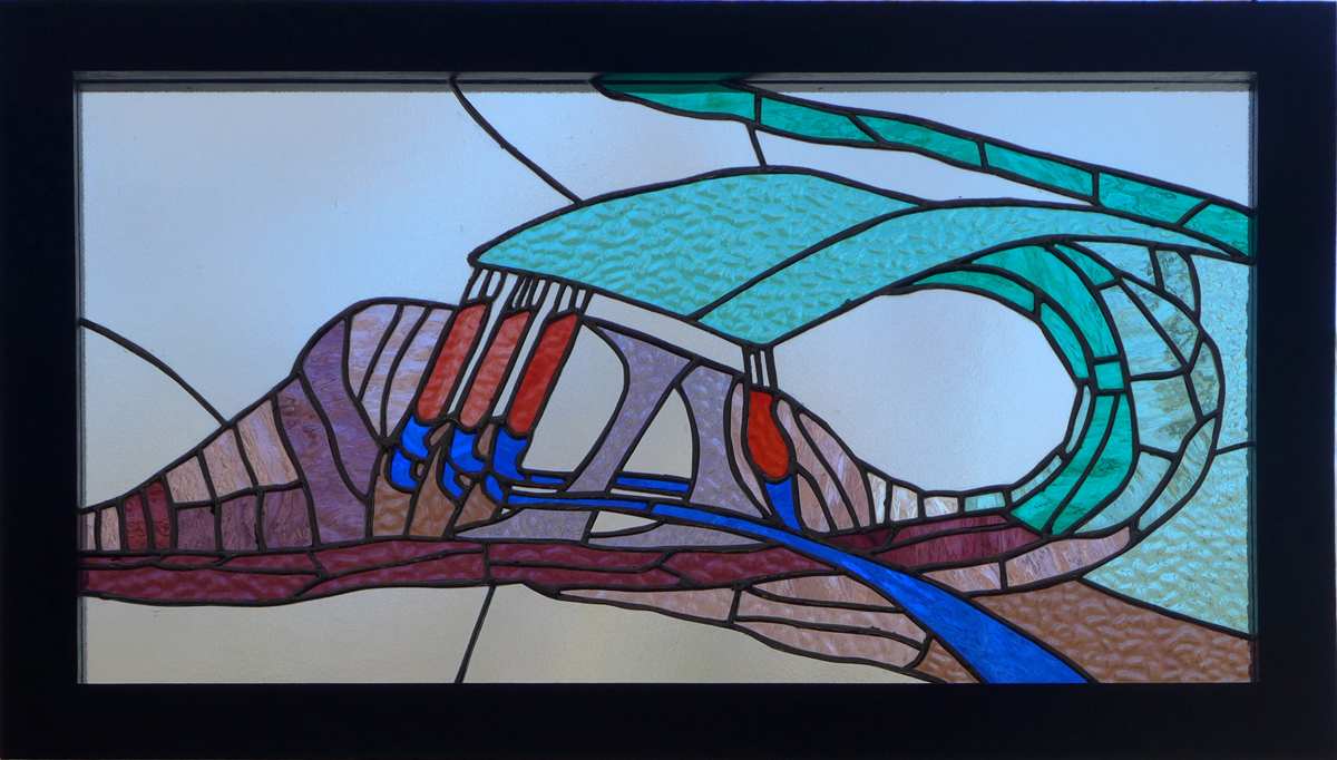 Bio-Stained Glass Vibration (Organ of Corti - the inner ear)  (SOLD)