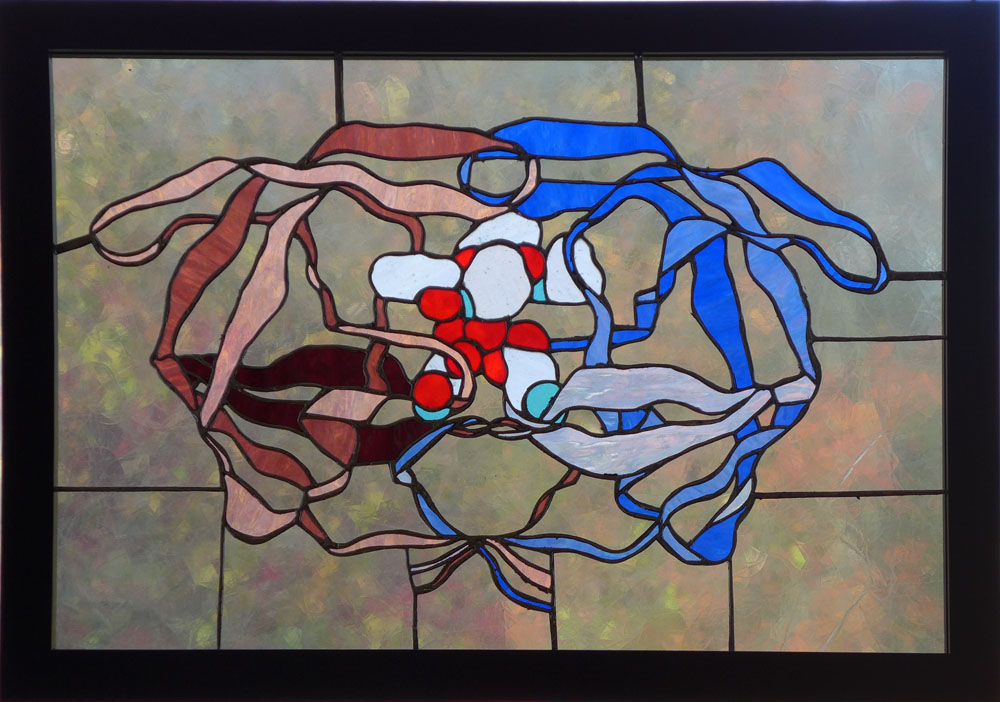 Bio-Stained Glass Inhibition (HIV Protease with Crixivan)