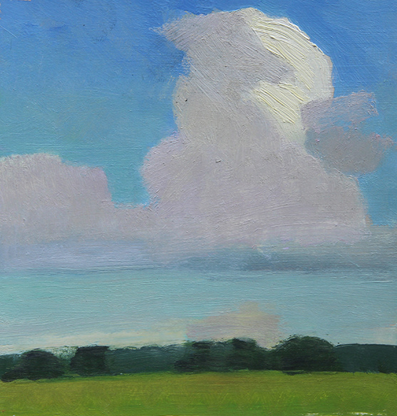 NEW WORK Six Acre Parcel, Big White Cloud with Shadow, Late Summer Afternoon