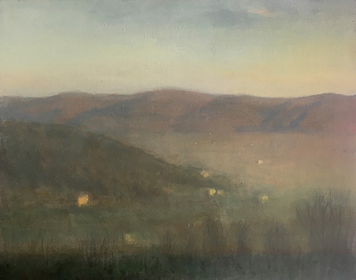 Cortona, Late Afternoon, Winter, View of the Valley