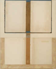 John Fraser work in relief Graphite, Acrylic, and M/M Collage on Wood Panel Construction