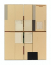 John Fraser work in relief Graphite, Acrylic, and M/M Collage on Wood Panel Construction, with Found Object/s