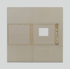John Fraser work in relief Mixed Media Collage on Wood Panel Construction