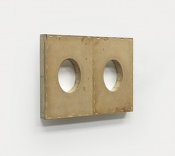 John Fraser sculpture/assemblage Graphite Wash, & Acrylic on Board, Mounted to Wood Panel Construction