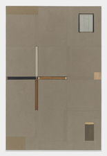 John Fraser work in relief Graphite, acrylic, graphite wash, & m/m collage on panel w/ found objects