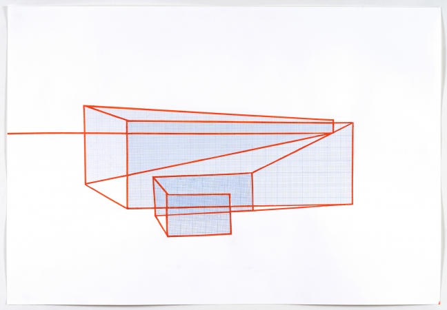 john hawke drawings acrylic and graph paper on paper