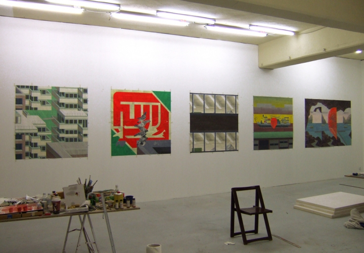 John Hodany FIVE LARGE SCALE PAINTINGS ON PAPER- 2007
