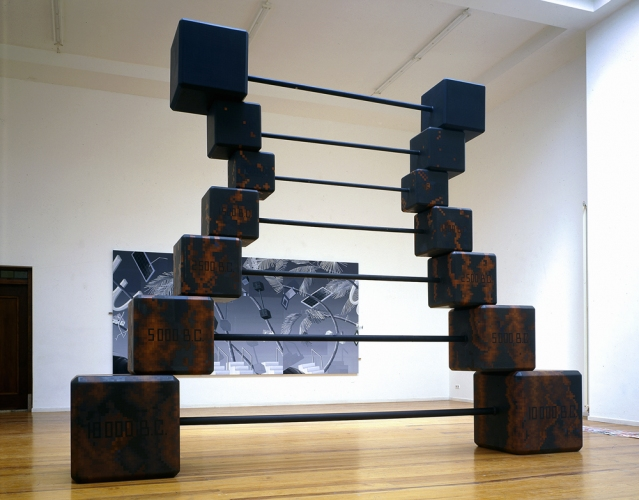 John Hodany SELECTED SCULPTURE AND PAINTINGS oil on wood, with some steel reinforcement