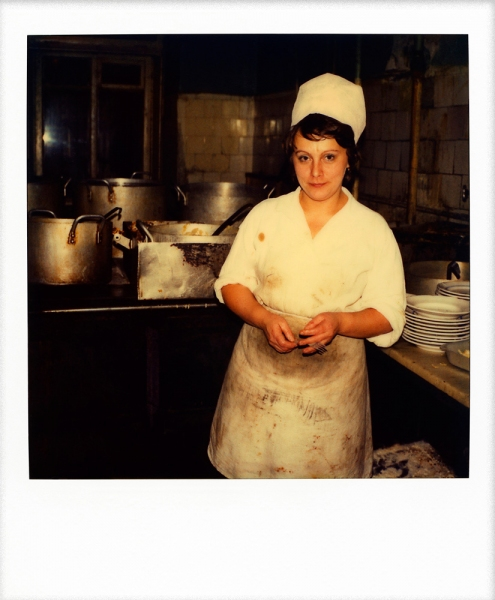 Russian Polaroids Leningrad soup kitchen