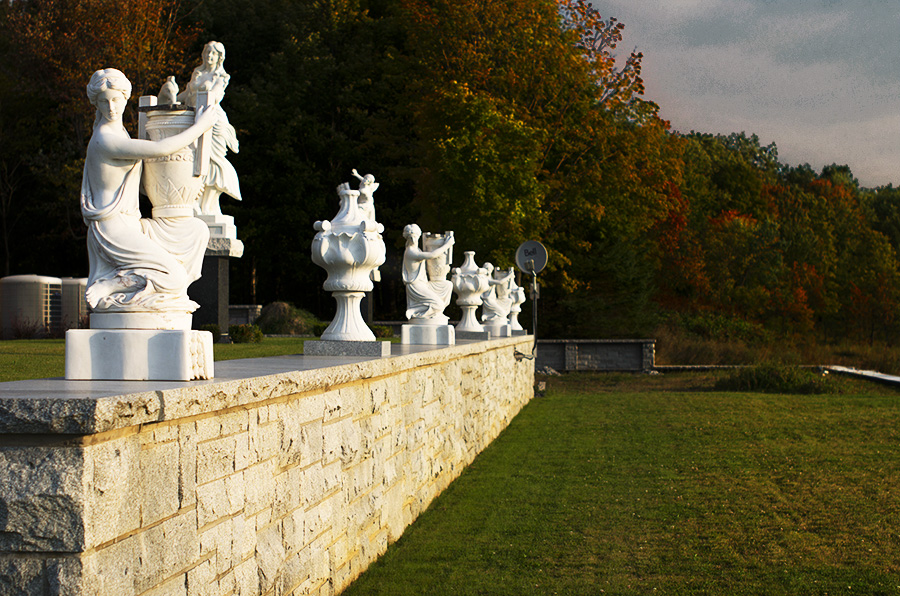Chateau Wall with statues