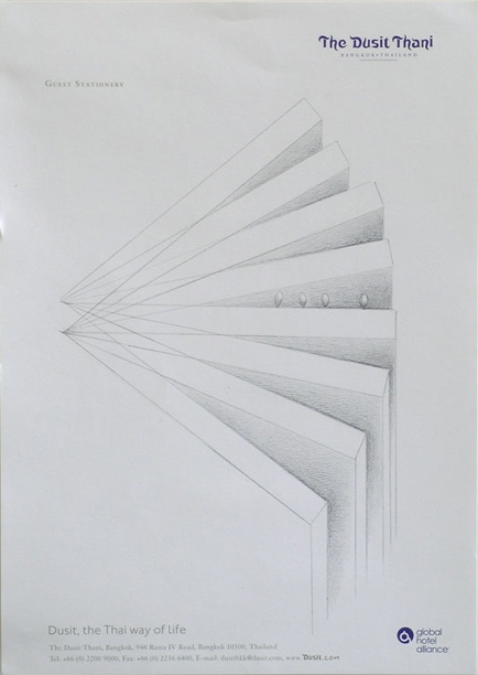Hotel Stationery Drawings Graphite on paper