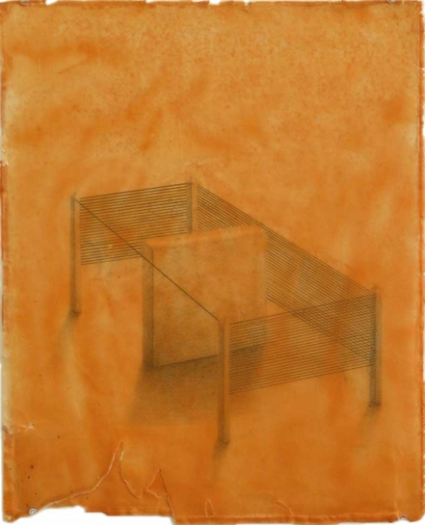 2006 - 2010 Encaustic, graphite on paper