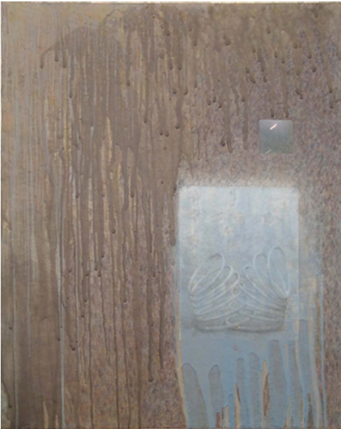 2001 - 2005 Encaustic and collage on wood panel