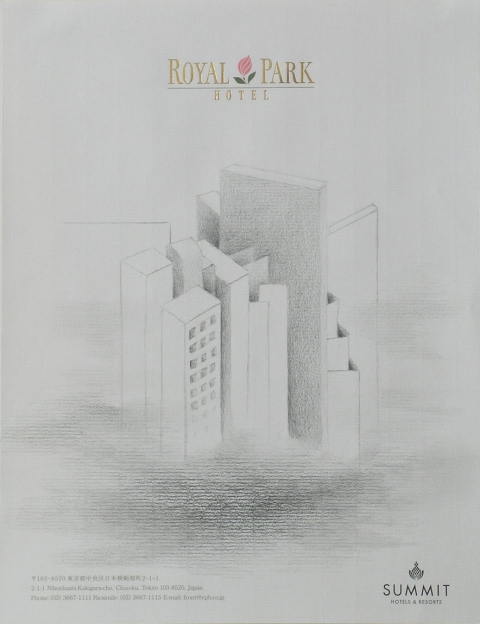 Hotel Stationery Drawings Royal Park Tokyo, Japan
