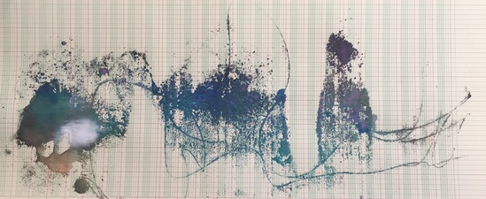 John McKanna Calligraphic Cloud Ink and watercolor on paper