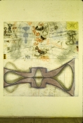 John Newman  Drawing - 1980-1989 Pencil, pastel, chalk and collage