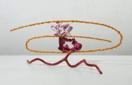 John Newman  Sculpture - 2005-2008 enamel paint on cast bronze, gouache on epoxy paste on aluminum armature wire, enamel paint and ink on extruded copper, gouache, gesso, starch, acqua resin on crushed paper