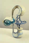John Newman  Sculpture - 1990-2001 blown glass, painted bronze, sisal, paper, papier maché, plaster, foam, acqua resin, chalk, pastel