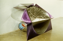 John Newman  Sculpture - 1980-1989 cast and fabricated aluminum with lacquer and chemical dye