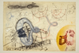 John Newman  Drawing - 2004-2008 pencil, colored pencil, chalk, gouache on paper