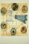 John Newman  Drawing - 1990-2003 chalk, china marker, colored pencil, pencil and collage on paper