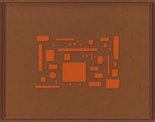 John Pittman Archive: All Work 1971-2002 Alkyd/Wood Relief