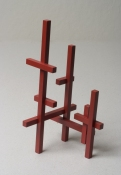 John Pittman Standing Sculptures 2002 - 2006 Enamel on maple