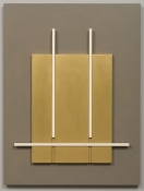 John Pittman Wall Constructions 2003 - 2010 Alkyd and wax on panels/relief
