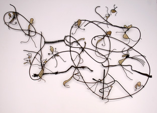 JONATHAN KERMIT Recycled Wire + Paper on the Wall