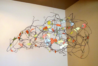 JONATHAN KERMIT Recycled Wire + Paper Suspended