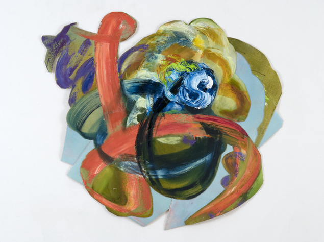 JONI WEHRLI PAINTINGS  2000-2009 <br> Cut Out Oil on canvas mounted on linen