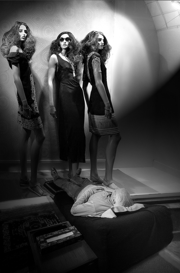 Conceptual Gallery   My Dream Spotlighted Three Tall Women…  ©