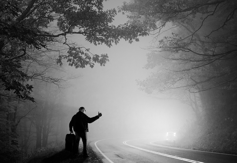 Theme and Variations on the Foggy Woods The Hitchhiker  ©