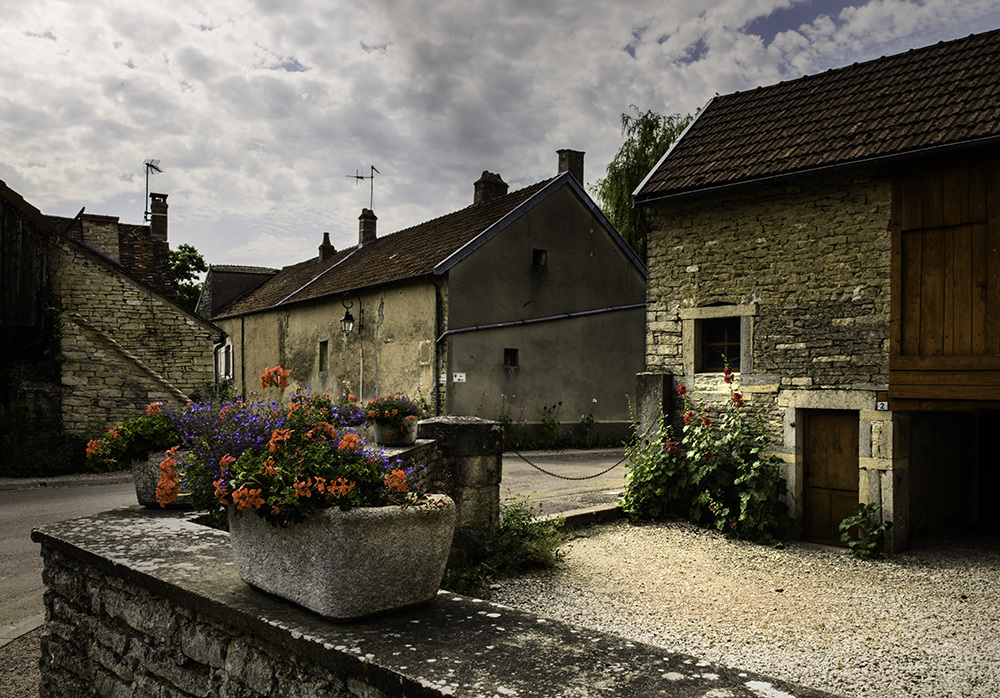 Landscapes Gallery Flowers in a Burgundy Village  ©
