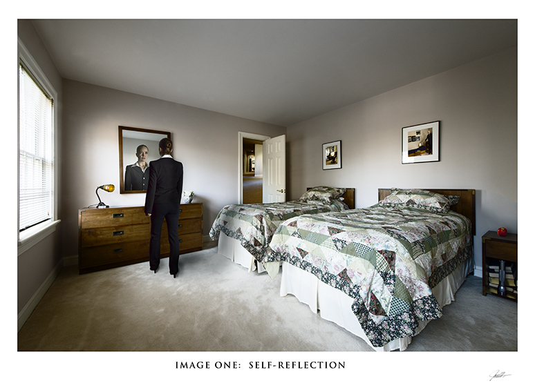 In the Mind's Eye: a Gallery with a Series of Images in Album Format  In the Mind's Eye:  Image One:  Self-Reflection  ©