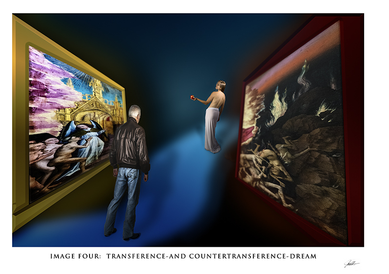In the Mind's Eye: a Gallery with a Series of Images in Album Format  In the Mind's Eye:  Image Four:  Transference-and Countertransference-Dream   ©