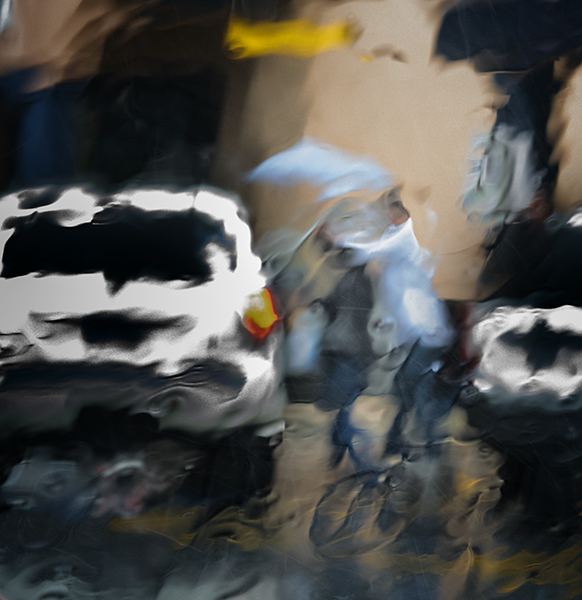 Car and Rain Series:  The Windshield as an Abstract Artist Car and Rain Series:  Image Four  ©