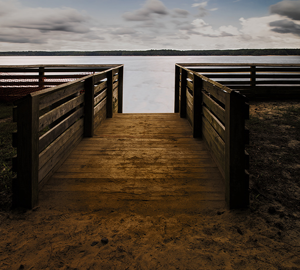 Landscapes Gallery The Ramp to the Water:  Jordan Lake  ©