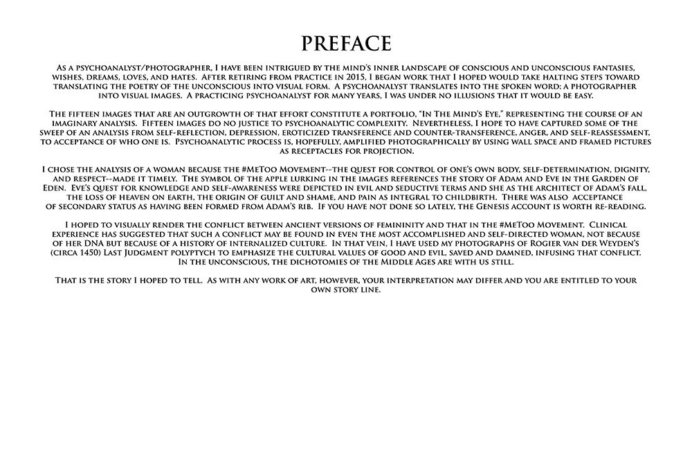 In the Mind's Eye: a Gallery with a Series of Images in Album Format  In the Mind's Eye:  Preface  ©