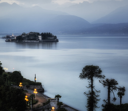 Evening on Lake Maggiore:  Isola Bella  ©
