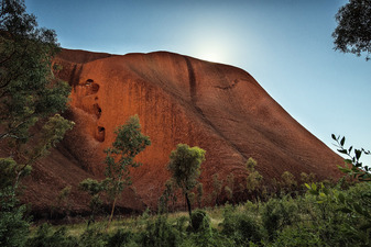 Sun Cresting the Face of Uluru  ©